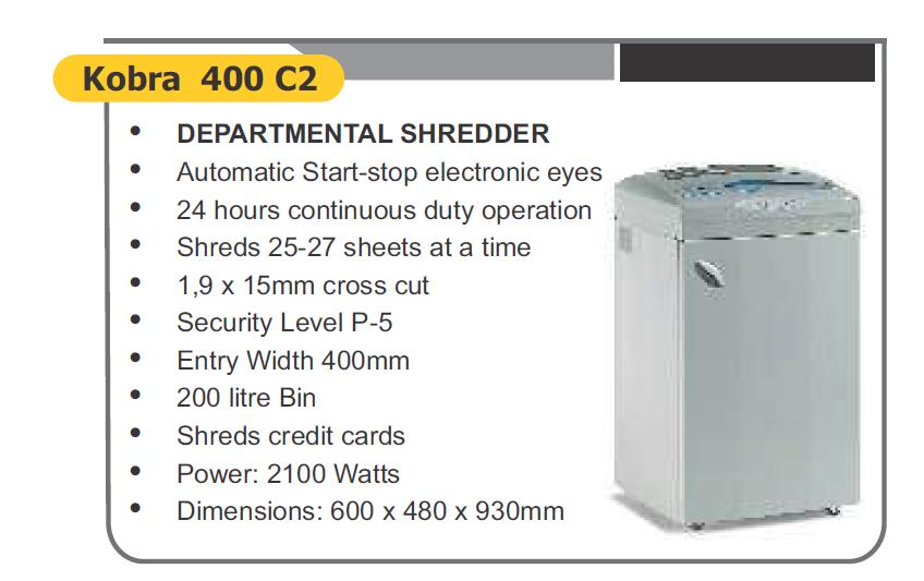 departmental shredder