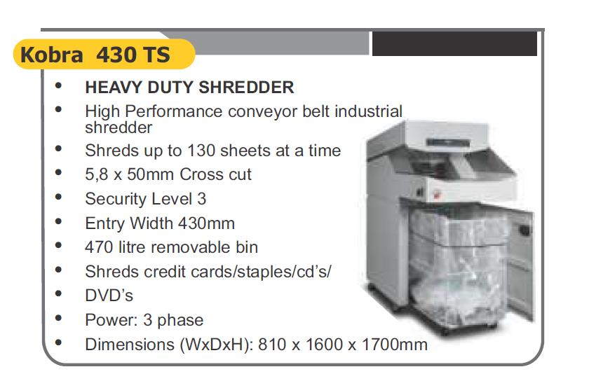 heavy duty shredder
